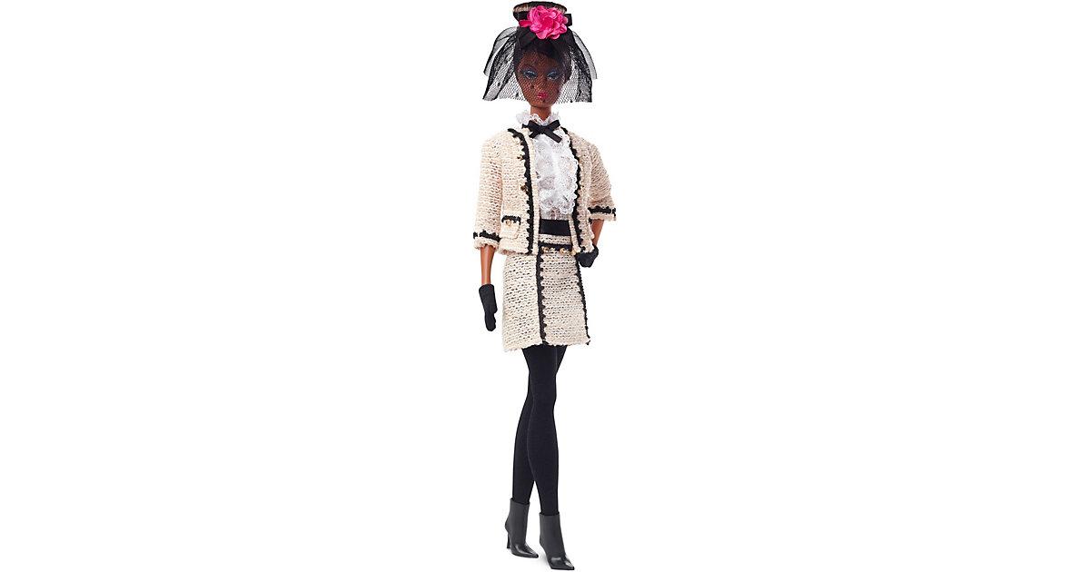 Barbie Fashion Model Kollektion Best To A Tea Puppe, ca. 30cm groß, Signature Sammlerpuppe Barbie-Puppe mit cremefarbenem Bouclé-Anzug