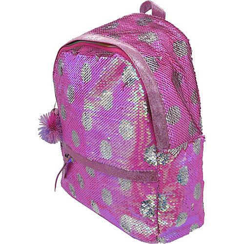 Рюкзак с пайетками Bright Dreams в горошек фуксия от Mihi-Mihi