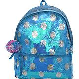 Рюкзак с пайетками Bright Dreams в горошек голубой