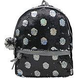 Рюкзак с пайетками Bright Dreams в горошек черный