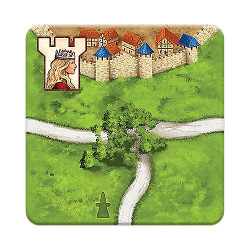 "Дополнение к настольной игре Каркассон Hobby World ""Каркассон: Принцесса и дракон"" от Hobby World"