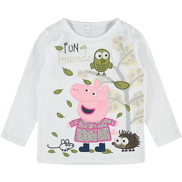 Neu name it Peppa Pig Langarmshirt NMFPEPPAPIG für Mädchen 15481541 für Mädchen