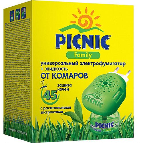 ЭлектрофумигаторPicnic Family c жидкостью от комаров 45 ночей, 30 мл