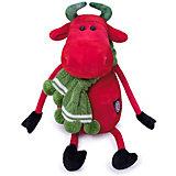 """Мягкая игрушка BudiBasa """"Карлос в вязаном шарфе"""", 27 см"""