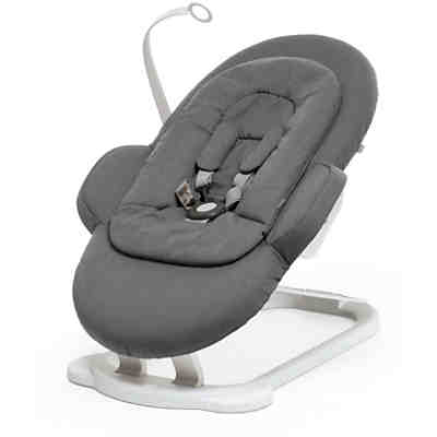 Steps™ Bouncer, weißes Gestell, Deep Grey
