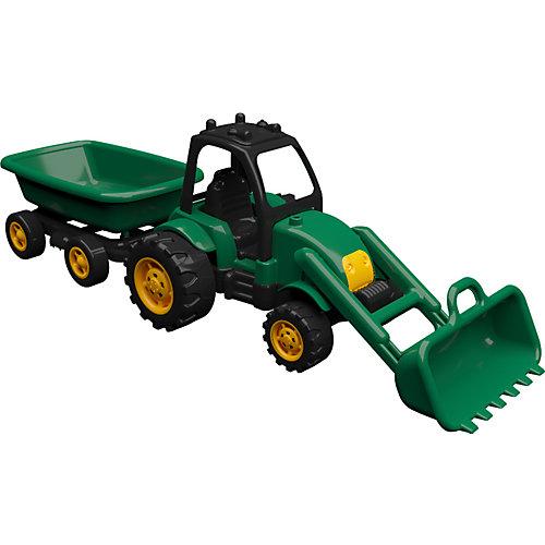 Машинка Terides Трактор с прицепом и ковшом, 60 см от Terides