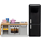 Набор мебели для домика Lundby Кухонный остров и холодильник
