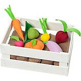 Игровой набор Paremo Овощи в ящике, с карточками, 12 предметов