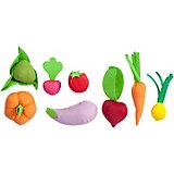 Игровой набор Paremo Овощи с карточками, 8 предметов