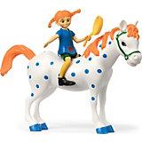 Набор кукол Micki для домика Пеппи Длинный чулок и лошадь