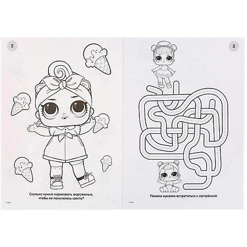 Раскраска LOL с наклейками и пайетками от Умка
