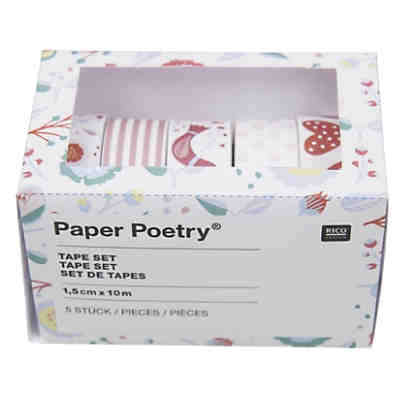 Tape Set Romantic Flowers rosa