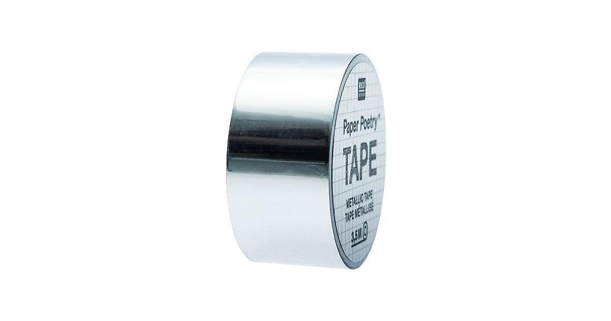 Mirror Metallic Tape Silber, 19 mm x 3,5 m silber