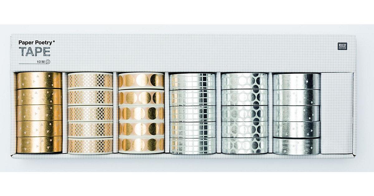 Tape Display Hot Foil, Gold/Silber, 30-teilig