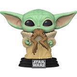 Фигурка Funko POP! Bobble: Star Wars: Mandalorian: Малыш Йода с лягушкой, 49932