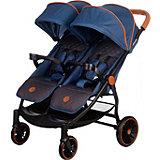 Прогулочная коляска для двойни Acarento Bellezza Duo, джинс с серым