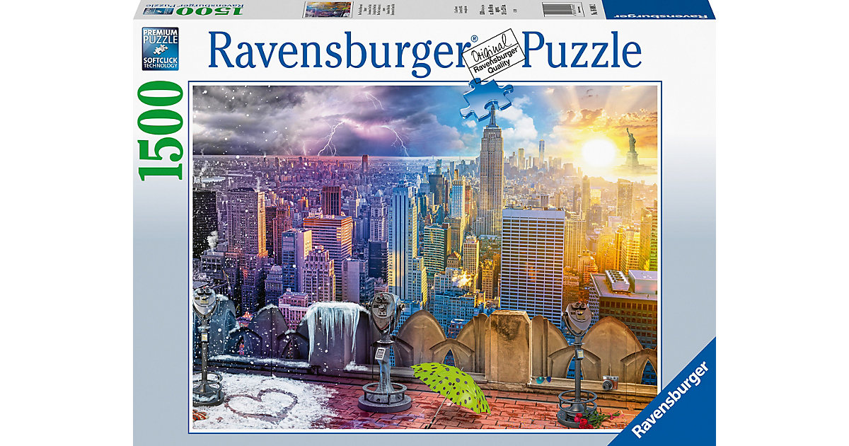 Puzzle New York im Winter und Sommer, 99 Teile