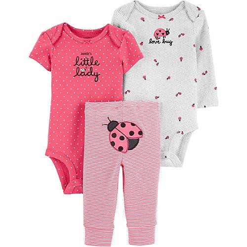 Комплект carter`s: брюки и боди 2 шт - розовый от carter`s