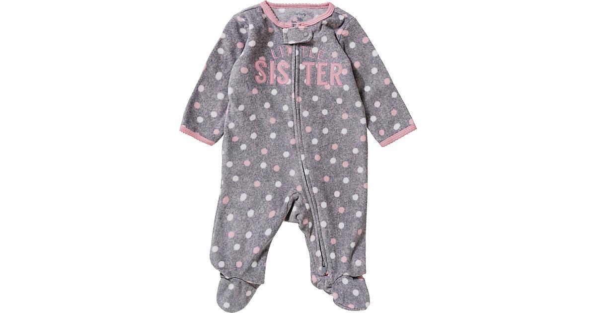 Baby Schlafanzug  grau Gr. 68 Mädchen Baby