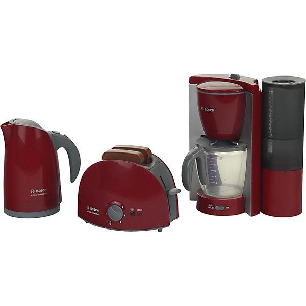 klein bosch fr hst cksset k chenger te wasserkocher toaster kaffeemaschine klein mytoys. Black Bedroom Furniture Sets. Home Design Ideas