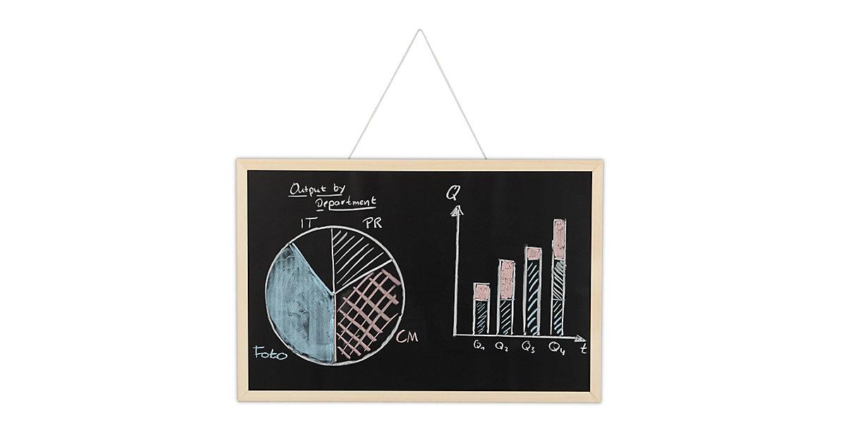1 x Kreidetafel mit Holzrahmen 40x60 Office Büro Organizer Notiztafel Blackboard schwarz