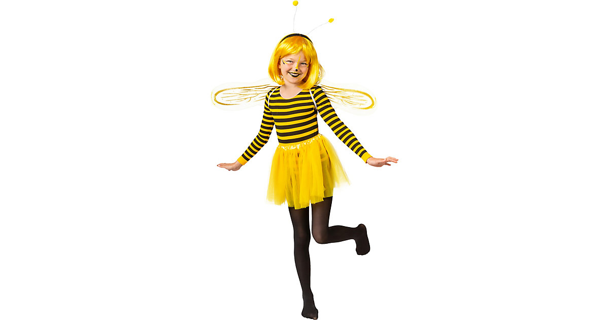 Body Biene schwarz/gelb Gr. 116/128