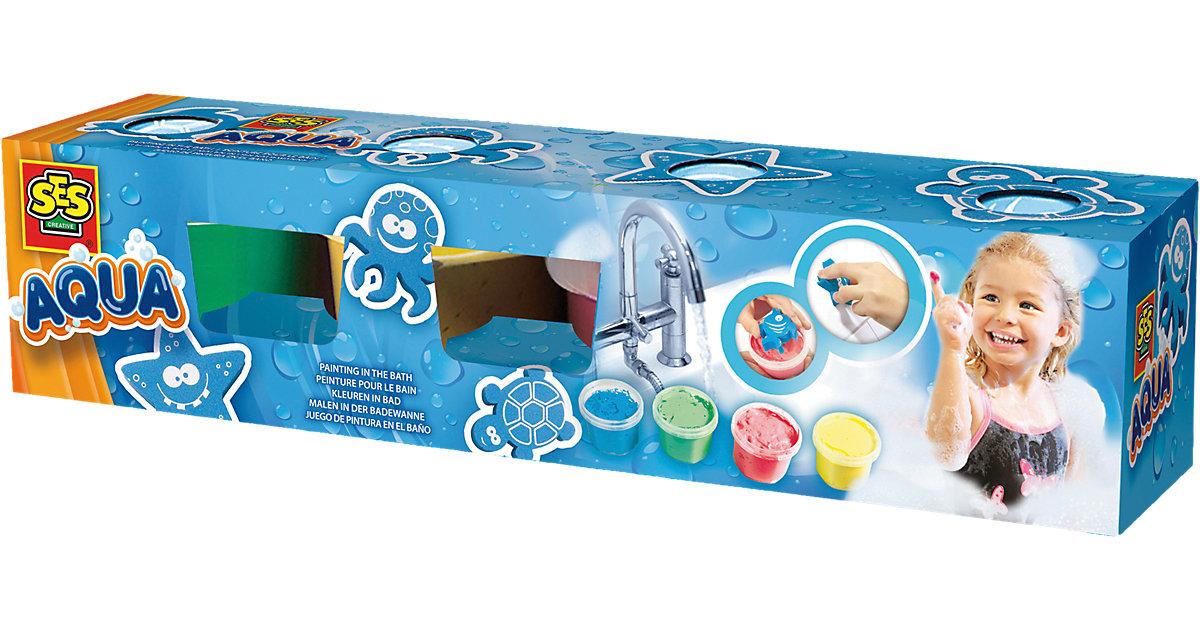 aqua Malen in der Badewanne  4 Farben