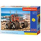 Пазл Castorland Premium Монстр-трак на побережье, 200 элементов