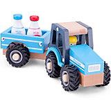Трактор с прицепом New Classic Toys Молоко