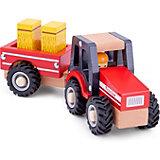 Трактор с прицепом New Classic Toys Сено