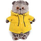 Мягкая игрушка Budi Basa Кот Басик в желтой куртке, 25 см