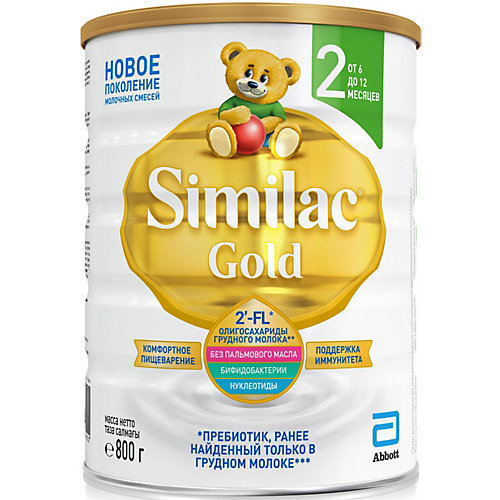 Молочная смесь Similac Gold 2, с 6 мес, 800 г от Similac
