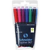 Набор капиллярных ручек Schneider Topliner 967, 6 цветов