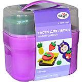 Тесто для лепки Гамма Малыш: веселый завтрак, 4 цвета