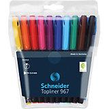 Набор капиллярных ручек Schneider Topliner 967, 10 цветов