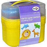 Тесто для лепки Гамма Малыш: зоопарк, 4 цвета