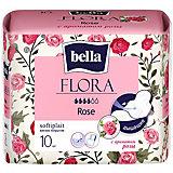 Прокладки Bella Flora Rose с ароматом розы,  4 капли, 10 шт