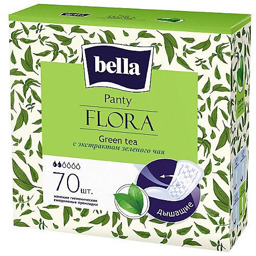 Ежедневные прокладки Bella Panty Flora Green tea 70 шт, с экстрактом зеленого чая