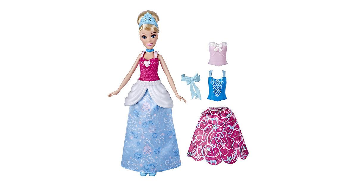 Disney Prinzessin Cinderellas Kleidermix, Modepuppe mit Outfits zum Anstecken, Kombinierbare Looks, Spielzeug Mädchen ab 3 Jahren rosa/blau  Kinder