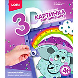 Аппликация для малышей с пайетками Lori Слоник