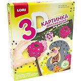 Аппликация для малышей с пайетками Lori Ёжик