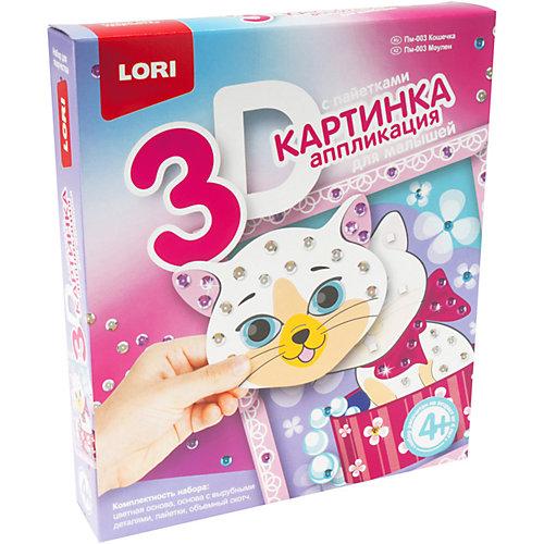 Аппликация для малышей с пайетками Lori Кошечка от LORI