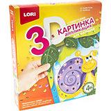 Аппликация для малышей с пайетками Lori Улитка