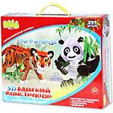 Мягкий 3D конструктор Bebelot Тигр и панда, 237 деталей