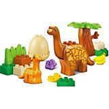 Конструктор Jdlt Динозавры: добрая семья, 20 деталей
