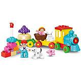 Конструктор Kids Home Toys Паровоз ко Дню Рождения, 58 деталей