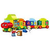 Конструктор Kids Home Toys Паровоз с цифрами, 50 деталей