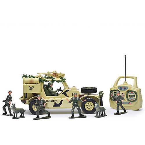 Радиоуправляемая машина Mioshi Army Военный джип, 1:20, свет, звук от Mioshi