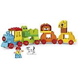Конструктор Kids Home Toys Паровоз с животными, 50 деталей