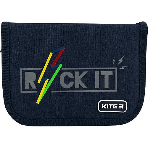 Пенал Kite Rock it, без наполнения - темно-синий от Kite